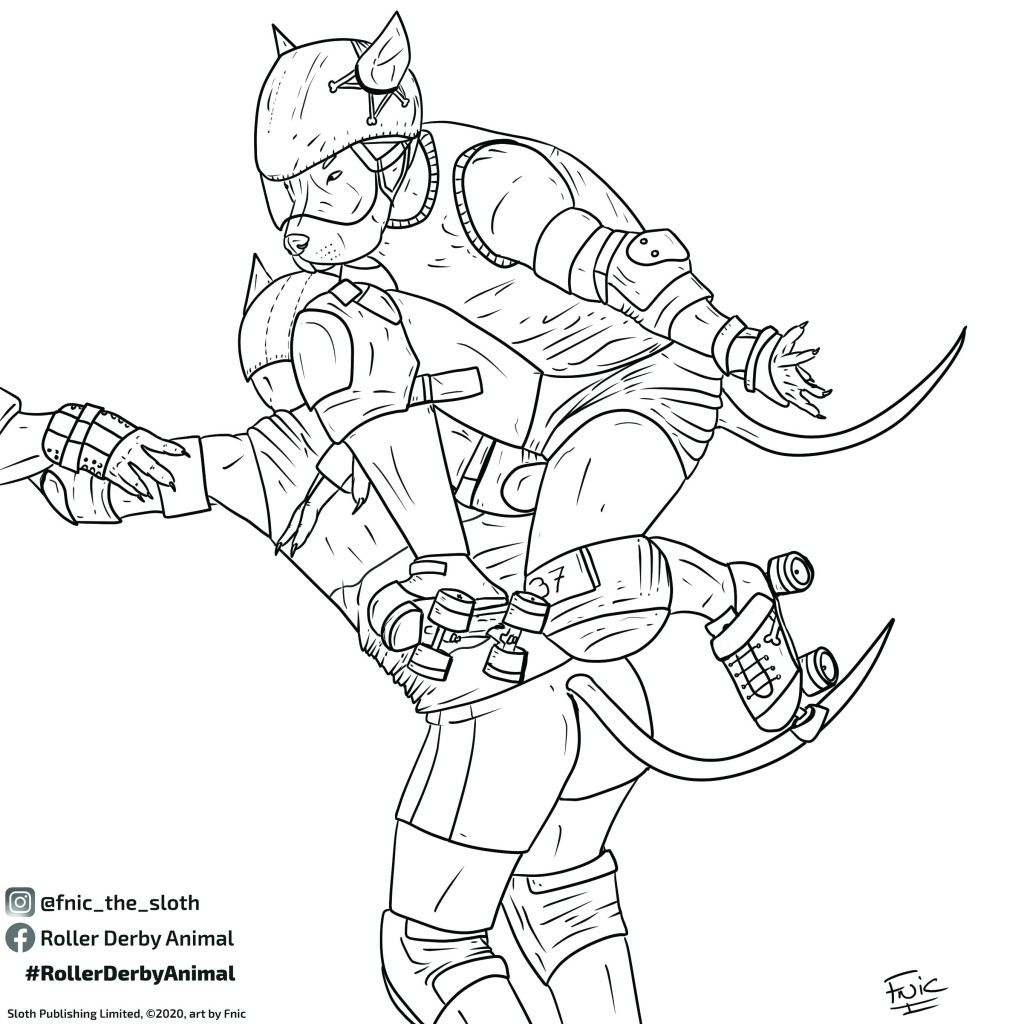 Colouring In Pages Roller Derby Animal